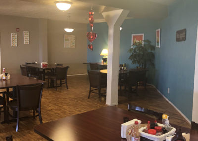 camino retirement assisted living albuquerque front recreation dinig room tables