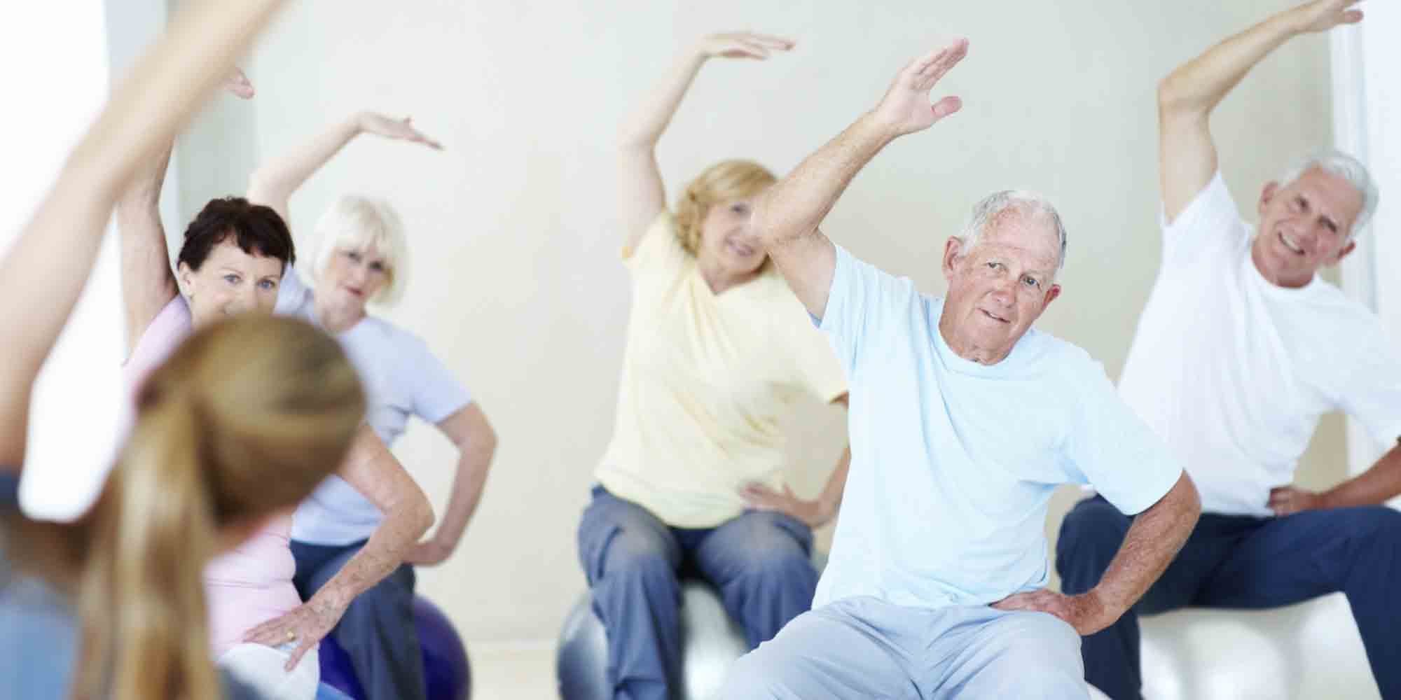 seniors-exercise assisted living