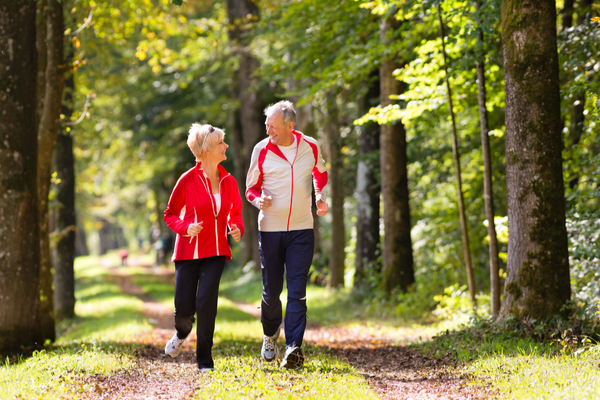 Active seniors outdoors